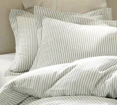blue and white striped bedding vintage ticking stripe duvet cover sham blue traditional bedding decorate my house