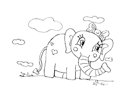Appealing Cartoon Elephant Coloring Pages B1404 Fantastic Baby