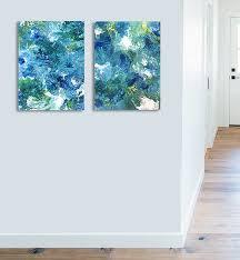 abstract 416 teal aqua blue green art abstract painting ocean blue white seascape coastal large canvas prints wall art