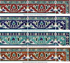 painted tile designs. Wave Border Tile Series Painted Designs