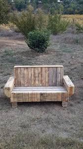 diy sofa styled pallet outdoor bench via 1001pallets com