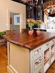 French Country Island Kitchen Country Kitchen With Wood Counters Kitchen Island In Portland
