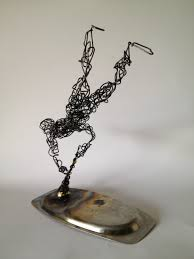 Wire Art Wire Sculpture Blown Away 5 Frank Marino Baker Drip Wire Art