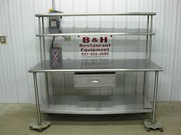 Stainless Shelves Kitchen Furniture Chic Stainless Steel Prep Table For Kitchen Furniture