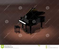 Grand Piano Music Light Grand Piano On Stage Stock Illustration Illustration Of