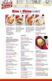 Breakfast Menu — Round The Clock Restaurant
