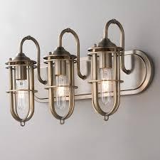 coastal style bath lighting. nautical cage 3 light bath coastal style lighting e