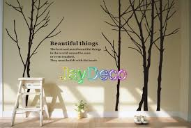 vinyl home tree wall decals tree stickers decal jaydeco intended for tree wall decor