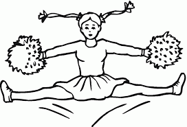 Small Picture Cheerleading Coloring Pages For Kids Coloring Home