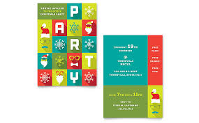 Christmas Party Flyer Templates Microsoft Work Christmas Party Invitation Template Design