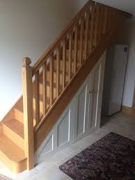 stairs furniture. Solid Oak Staircase With Painted Storage Below Stairs Furniture N