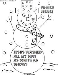 Small Picture Snowman Sunday School Lesson