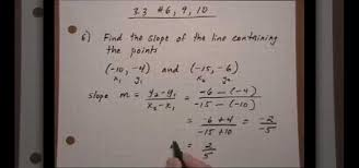 how to find the slope from a set of points