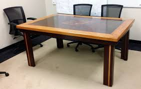 table recycled materials. Red Oak Trim Recycled Door Table Reclaimed Wood Conference Materials
