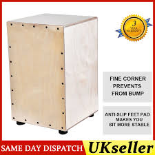 wooden box drum cajon hand drum persussion instrument wood small tuner