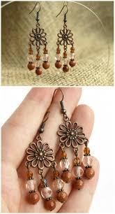 chandelier earring boho bronze earring dangle earring red goldstone earring natural stone bohemian earring antique bronze copper earring