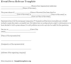 Simple Press Release Template Sample News Release Template Simple Press Release Template Media