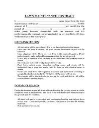 Landscape Maintenance Contract Lawn Cutting Template Apvat Info