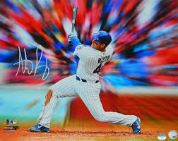 anthony rizzo signed chicago cubs swinging action motion