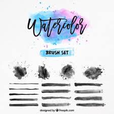 Watercolor Brush Set Vector Free Download
