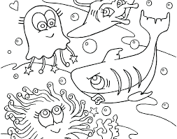 Free Printable Ocean Scene Coloring Pages Fish Waves Color Under The