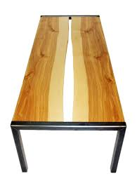 Birch Coffee Table Custom Inverted Live Edge Birch And Steel Coffee Table By