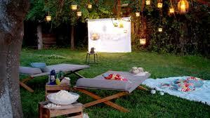 Backyard Movie Night Birthday Party  Painted ConfettiMovie Backyard