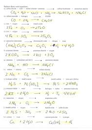 balancing chemical equations answers worksheet key 1 25 jennarocca awesome collection of redox worksheets with infinite