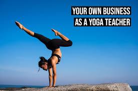 starting a business as a yoga teacher