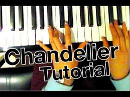 how to play chandelier sia piano tutorial