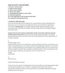 Formal Letter English Format Letter English Tsurukame Co