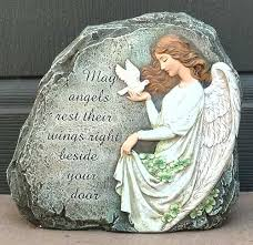 irish angel garden stone blessing