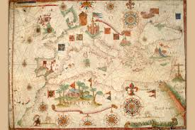 Portolan Charts Details About The Portolan Chart Of Mediterranean Europe British Isles Part Of Scandinavia
