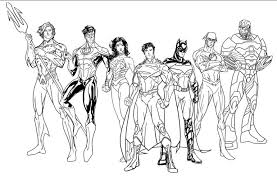 Justice League New 52 Coloring Pages