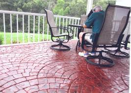 stamped concrete overlay. Colored-stamped-concrete-patio-san-antonio-tx Stamped Concrete Overlay