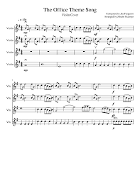 The Office Theme Song Sheet Music For Violin Download Free