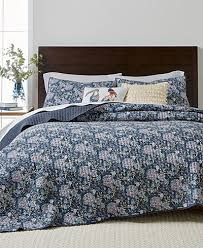 Martha Stewart Collection Iridescent Peony Quilt and Shams ... & Martha Stewart Collection Iridescent Peony Quilt and Shams Collection  Cotton, Created for Macy's Adamdwight.com
