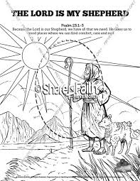 Psalm 23 The Lord Is My Shepherd Sunday School Coloring Pages