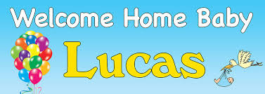 Welcome Home Baby Boy Banner Welcome Home Banner For A Baby Boy