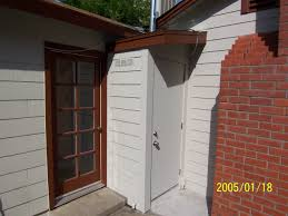 exterior water heaters. water heater enclosure after renovations. renovations and building repairs chileab construction exterior heaters t