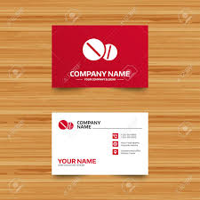 pharmacy design company business card template medical tablets sign icon pharmacy medicine
