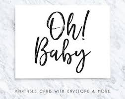 Baby Boy Printable Card Baby Boy Cards Baby Shower Cards Etsy