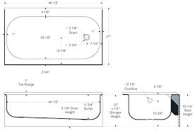 bath tub size standard length average bathtub width and depth of a typical australia bathtubs id