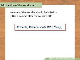 Mla Quote Website How To Cite A Website Using Mla Format 15 Steps With Pictures