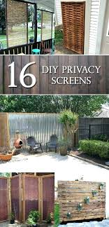 outdoor screen divider resin enclosure privacy large size of patio