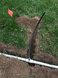 install irrigation system with funny pipe at tee coupling