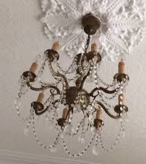 vintage shabby chic chandelier antique chandelier vintage french shabby chic crystal
