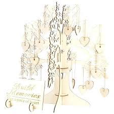 wedding guest book tree us wooden hearts pendant drop ornaments party decoration free fingerprint template