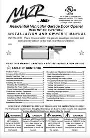 allstar garage door openerAllstar Garage Door Opener Manual User Guide Installation Manual