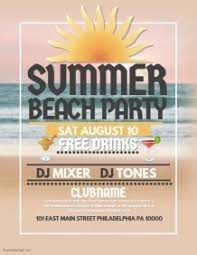 Summer Party Flyers 17 890 Customizable Design Templates For Summer Party Postermywall